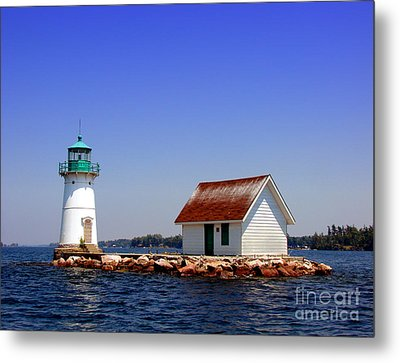 Lighthouse On The St Lawrence River Metal Print by Olivier Le Queinec