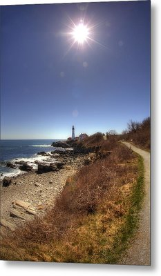 Lighthouse Path Metal Print by Joann Vitali