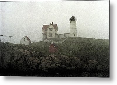 Lighthouse - Photo Watercolor Metal Print by Frank Romeo