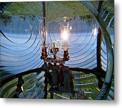 Metal Print featuring the photograph Lighthouse Prism And Light by Nick Kloepping