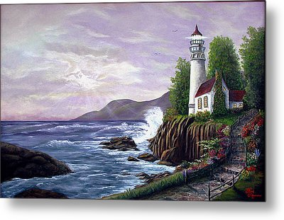 Lighthouse Retreat Metal Print