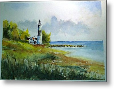 Lighthouse Sold Metal Print