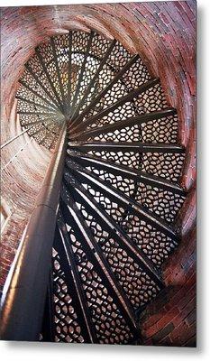 Lighthouse Steps Metal Print