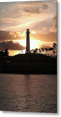 Metal Print featuring the photograph Lighthouse Sunset by John Glass