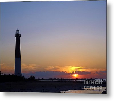 Lighthouse Sunset Metal Print by Art Dingo