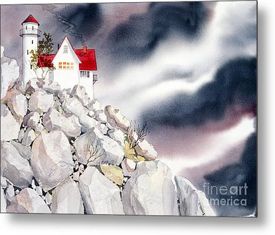 Lighthouse Metal Print by Teresa Ascone