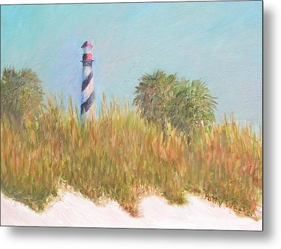 Lighthouse View From St. Augustine Beach Metal Print