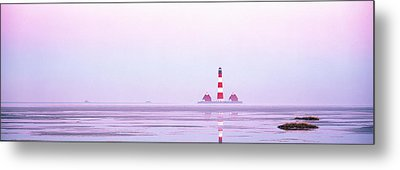 Lighthouse Westerhever North Sea Germany Metal Print by Panoramic Images