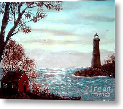 Lighthousekeepers Home Metal Print by Barbara Griffin