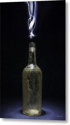 Metal Print featuring the photograph Lighting By The Quart - Light Painting by Steven Milner