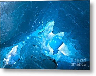 Lighting In Nigardsbreen Glacier Grotto 3 Metal Print by Heiko Koehrer-Wagner