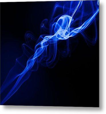 Lighting In Swirls Metal Print by Peter Harris