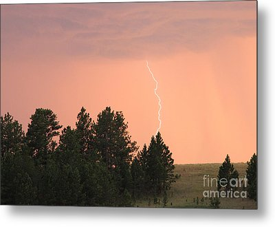 Lighting Strikes In Custer State Park Metal Print by Bill Gabbert