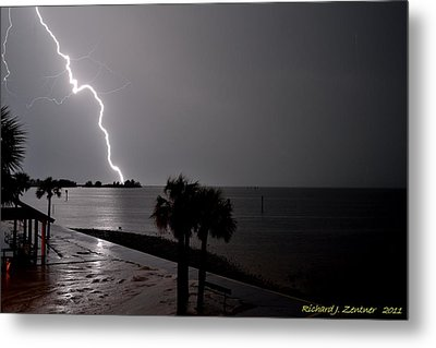 Metal Print featuring the photograph Lightning 1 by Richard Zentner