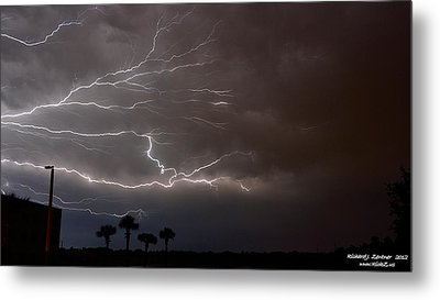 Metal Print featuring the photograph Lightning 5 by Richard Zentner
