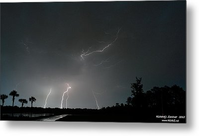 Metal Print featuring the photograph Lightning 6 by Richard Zentner