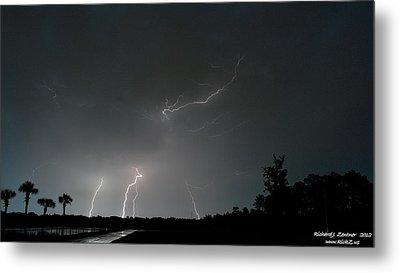 Lightning 6 Metal Print by Richard Zentner