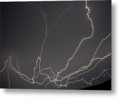 Lightning 6a Metal Print by Maggy Marsh