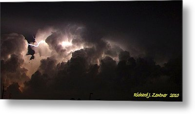 Metal Print featuring the photograph Lightning 7 by Richard Zentner