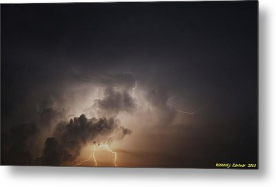 Metal Print featuring the photograph Lightning 8 by Richard Zentner