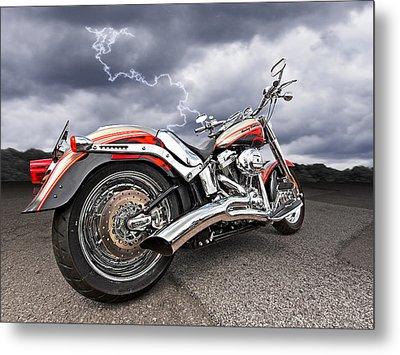 Lightning Fast - Screamin' Eagle Harley Metal Print