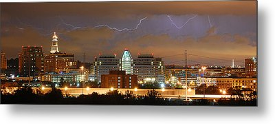 Lightning Over Alexandria Metal Print by Michael Donahue