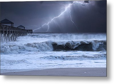 Lightning Strike Metal Print by Laura Fasulo