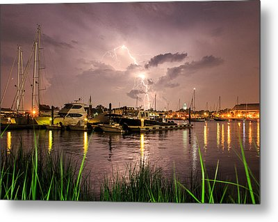 Metal Print featuring the photograph Lightning Strikes Annapolis by Jennifer Casey
