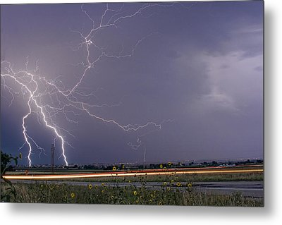 Lightning Thunderstorm Dragon Metal Print by James BO  Insogna