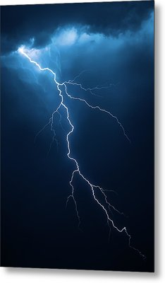 Lightning With Cloudscape Metal Print