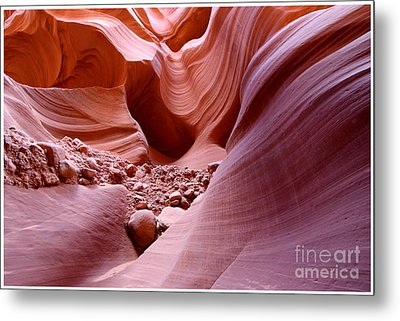 Lights And Rocks In The Canyon Metal Print by Ruth Jolly