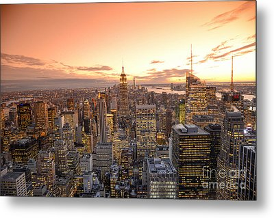 Lights In The Sunset Metal Print