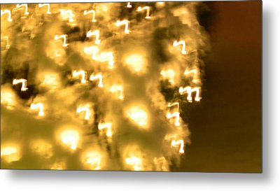 Lights Of Winter White Metal Print by Gary Henderson