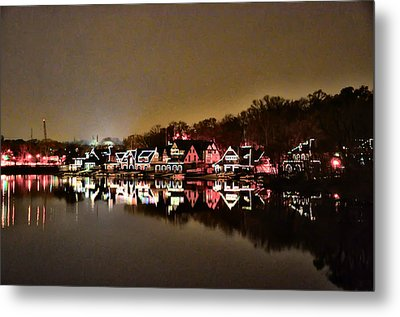 Lights On The Schuylkill River Metal Print by Bill Cannon