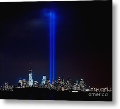 Lights Over Nyc Metal Print