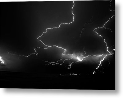 Lights Over The Gulf Metal Print by David Lee Thompson