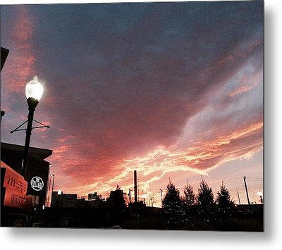 Metal Print featuring the photograph Lights The Whole Sky by Toni Martsoukos