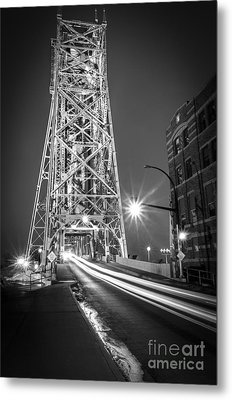 Metal Print featuring the photograph Lightspeed Through The Lift Bridge by Mark David Zahn