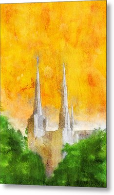 Metal Print featuring the painting Like A Fire Is Burning by Greg Collins