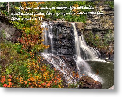 Like A Spring Whose Water Never Fails - Isaiah 58. 11 Metal Print by Michael Mazaika