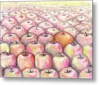 Like Apples And Oranges Metal Print by Shana Rowe Jackson