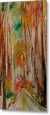 Metal Print featuring the painting Like The Trees Always Looking Up by PainterArtist FIN