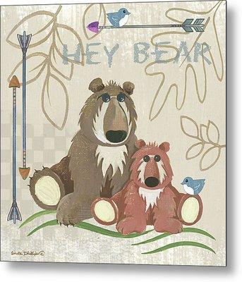 Lil Boys Bears Metal Print