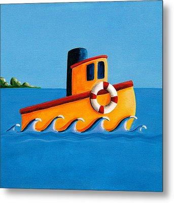 Lil Tugboat Metal Print by Cindy Thornton