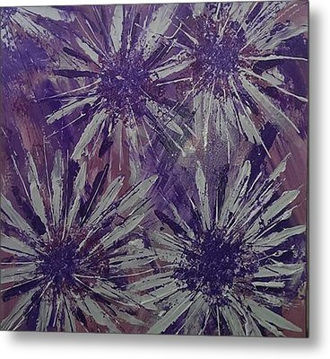 Lilac Garden Metal Print by Judi Goodwin