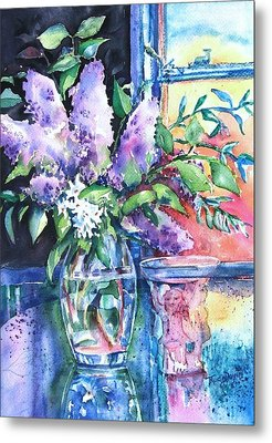 Lilac Light Metal Print by Trudi Doyle