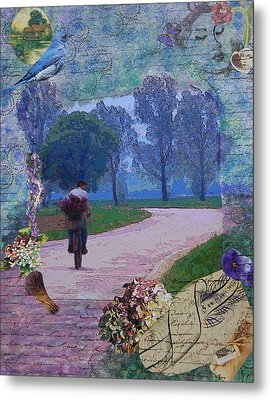 Lilac Man Metal Print by Tamyra Crossley