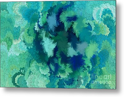 Lilac Of The Valley Teal Green Metal Print by Holley Jacobs
