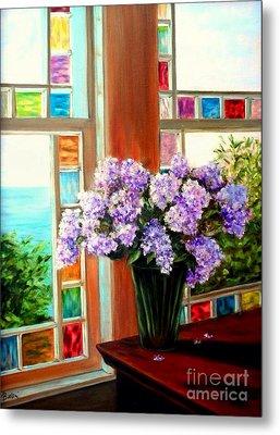 Lilac Reflections Metal Print