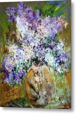 Lilac Time Metal Print by Mary Spyridon Thompson